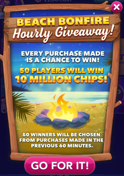 Beach Bonfire Hourly Giveaway