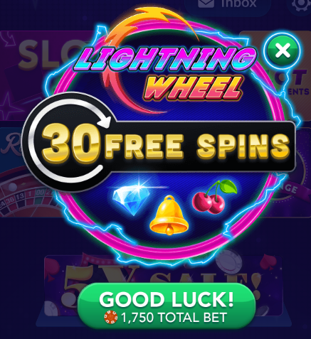 Big Fish Casino: Free Spins in Lightning Wheel