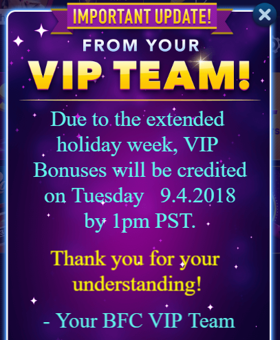 Big Fish Casino VIP Update