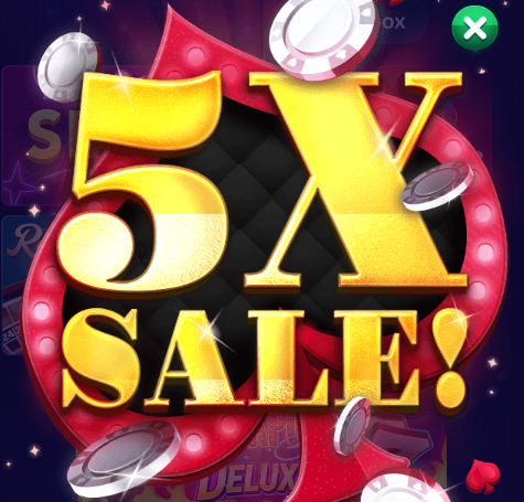 Big Fish Casino: 5X Chips & Gold Sale