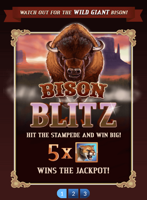 Bison Blitz Slot Machine at Big Fish Casino - How to Play