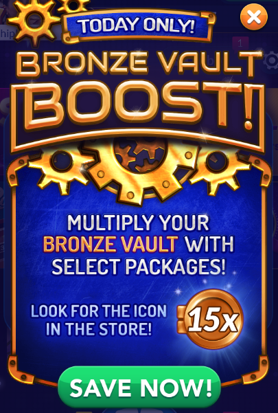 Today Only: Bronze Vault Boost