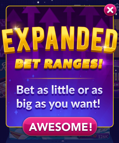 Big Fish Casino: Expanded Bet Ranges