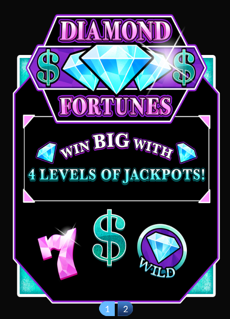 Diamond Fortunes Slot Machine at Big Fish Casino - How to Play