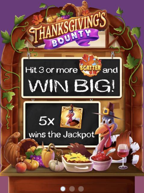Thanksgiving's Bounty Slot Machine at Big Fish Casino - How to Play