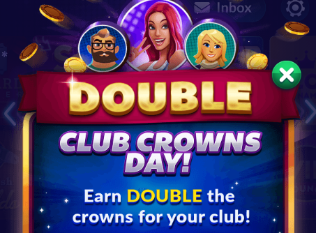 Big Fish Casino: Double Club Crowns Day!