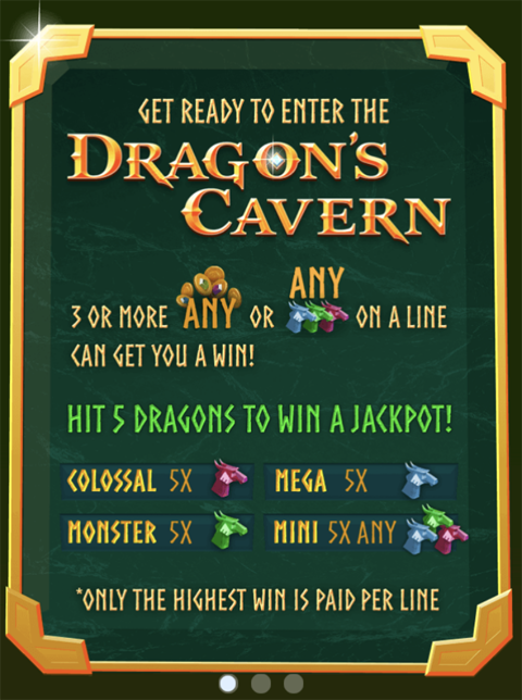 Dragon's Cavern Slot Machine at Big Fish Casino - How to Play