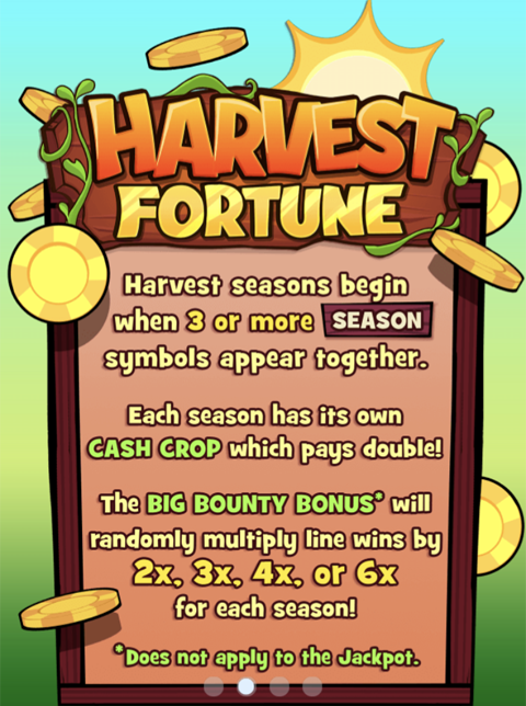 Harvest Fortune Slot Machine at Big Fish Casino - How to Play