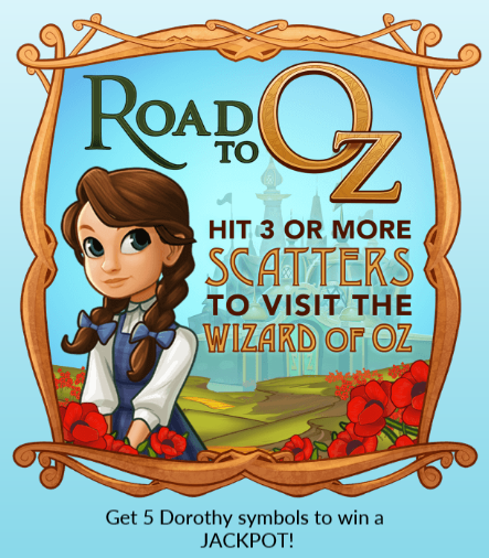 Road to Oz Slot Machine at Big Fish Casino - How to Play