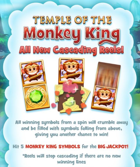 Temple of the Monkey King Slot Machine at Big Fish Casino - How to Play