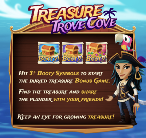 Treasure Trove Cove Slot Machine at Big Fish Casino - How to Play