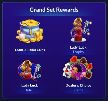 Big Fish Casino - Season 1 Grand Set Rewards (Lady Luck)