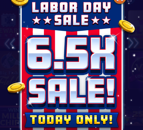 6.5X Chips & Gold Sale