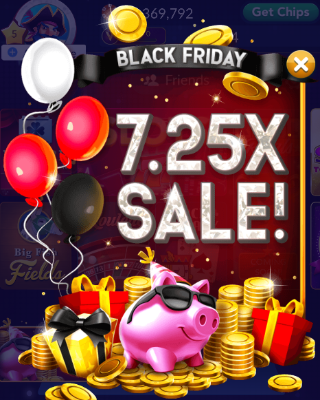 7.25X Chips & Gold Sale
