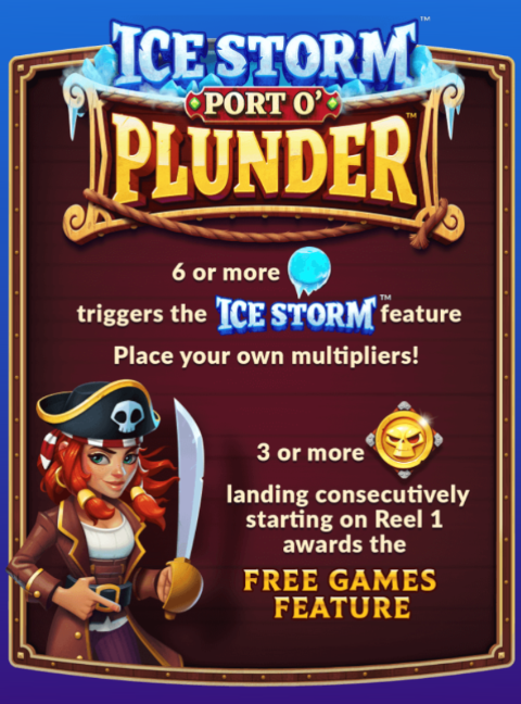 Ice Storm Port O' Plunder Slot Machine at Big Fish Casino - How to Play