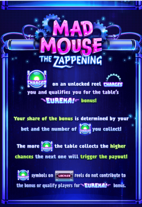 Mad Mouse: The Zappening Slot Machine at Big Fish Casino - How to Play