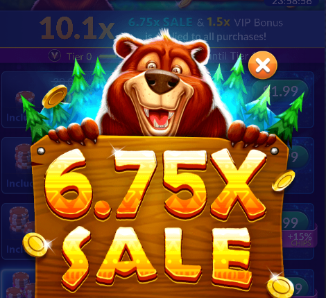 6.75X Chips & Gold Sale